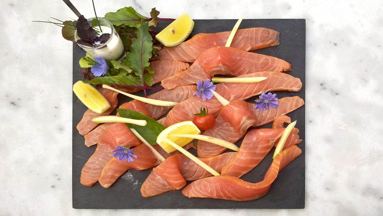Ardoise de saumon fumé